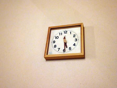 待合所の時計
