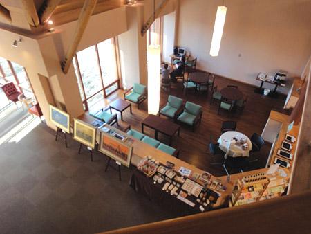 清泉寮の喫茶コーナー