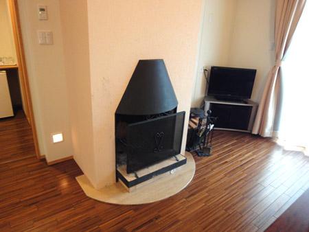 清泉寮の暖炉