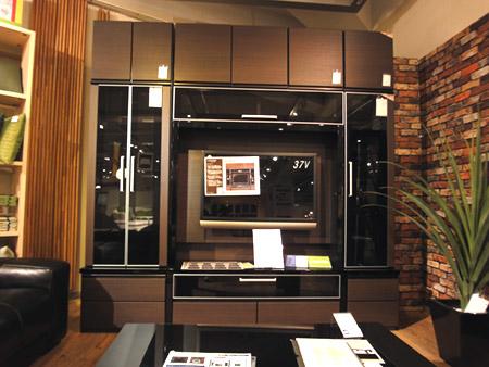 壁面収納型のテレビ台