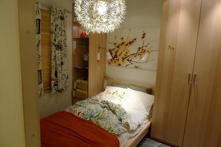 イケア家具でコーディネートした寝室