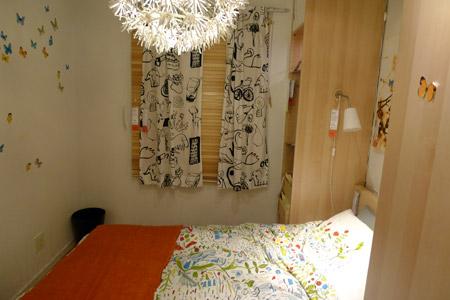 イケア家具でコーディネートした寝室その2