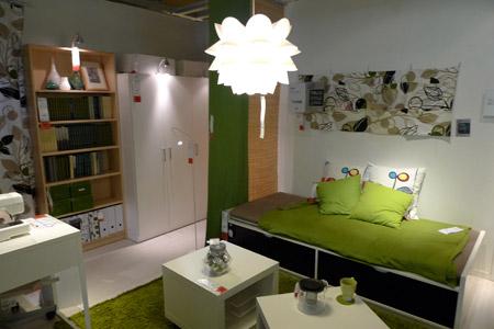 IKEAの提案する一人暮らしのリビング