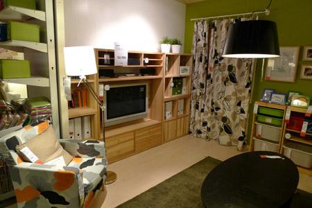 イケアの壁面収納とテレビ台