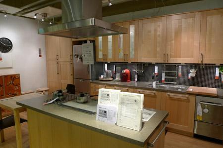 展示場にあるような豪華なイケアのキッチン
