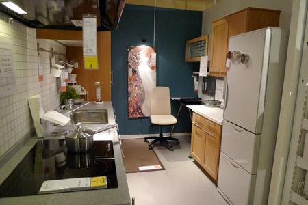 ワークスペース兼家事室が上手く融合したキッチン