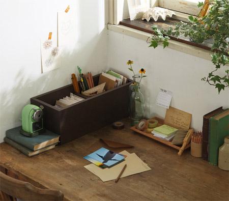 壁に付けられる家具をステーショナリーとして