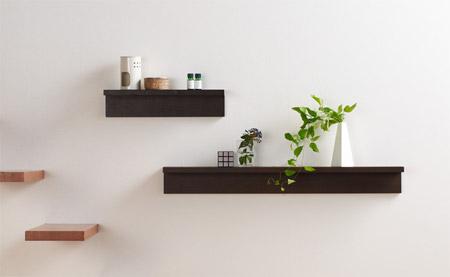 無印壁に付けられる家具の棚