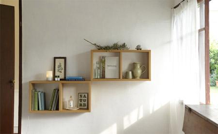壁に付けられる家具のボックス
