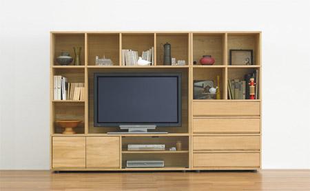 無印良品の壁面収納型テレビ台