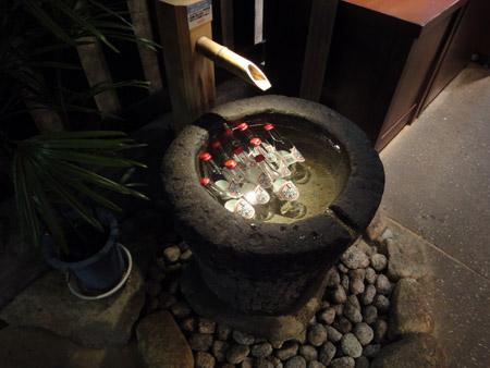 舩坂酒造店の手水鉢
