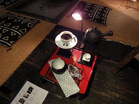 カフェのディスプレイ