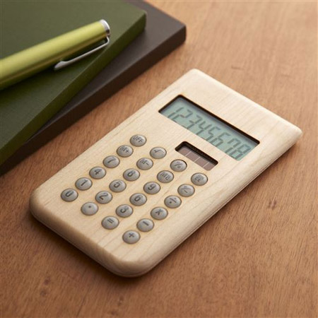 Hacoa(ハコア)の木製ソーラー電卓・メープル