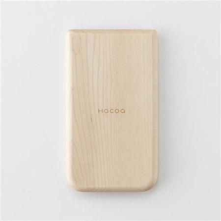 木製ソーラー電卓の裏面