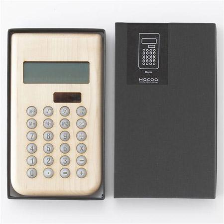 Hacoa(ハコア)の木製ソーラー電卓のケース