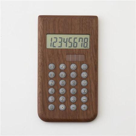 Hacoa(ハコア)の木製ソーラー電卓・ウォールナット