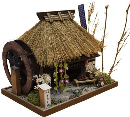 ビリー 手作りドールハウスキット 茅葺きハウスキット そば屋