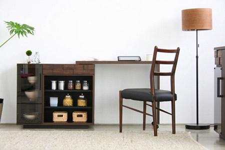 「コルク キッチンデスク」を机として使用