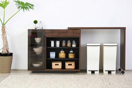 コルク キッチンデスクをキッチン収納として使用