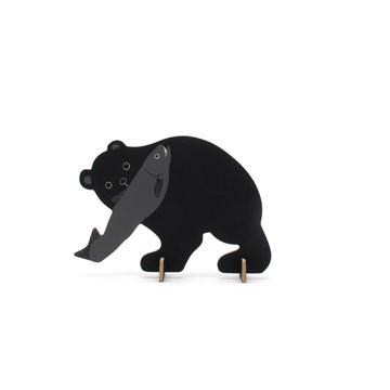 薄型民芸の「木彫りの熊」